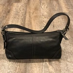 Coach black clutch bag